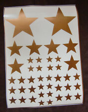 Auto Aufkleber Sterne 42 tlg. Set in gold