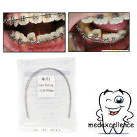 2pcs Dental Orthodontic treat NITI Alloy Open Coil Spring Arch Wires 0.010*180mm