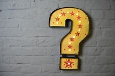 Vintage Style LED Carnival Question Mark Illuminated Sign