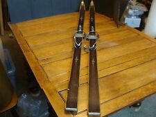 "New listing Vintage Wooden Hickery-Asnes Turski Skis: 170'S, grasshoper bindings , 66"" long"