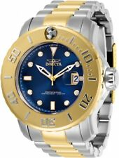 New Mens Invicta 29355 Pro Diver Automatic 3 Hand Blue,Gold Dial 50mm Watch