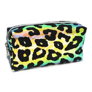 Large Kids Girls Woman's Leopard School Pencil Case Make Up Bag Travel Bag Pouch