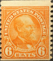 Scott #558 US 1922 6 Cents President Garfield Postage Stamp XF