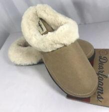 Dearfoam's Women's Slippers Faux Suede/Faux Fur Lined~Tan~ Size Medium (7/8)