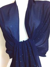 WEDDING SEQUIN SCARF SCARVES SHAWL WRAP SHAWL  PARTY CAPE  PASHMINA TOPS STOLE