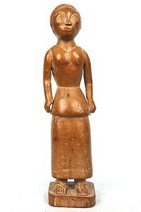 Art African Antique - Woman Colon Abron - Coin Village - Patina Natural