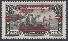 LEBANON SYRIA 1928 FOUR PIASTER OF SYRIA OVPT REPUBLIQUE LIBANAISE IN ERROR SG