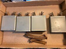 4 Vintage 2 uf 1500v Bathtub Oil Capacitors w/ mounts Test Great Guaranteed