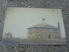 Real photo postcard School Saskatchewan, Canada