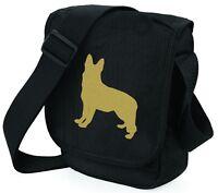German Shepherd Dog Bag Shoulder Bags Metallic Gold Silver Black Bag Xmas Gift