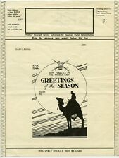 More details for airgraph form mef 1944 xmas greetings. general gordon on camel silhouette unused