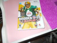 Madden NFL 09: All-Play (Nintendo Wii, 2008) WITH MANUALL FREE SHIPPING
