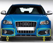 Genuine Audi S3 08-12 FL Parachoques Delantero Par Ajuste Parrilla de luz de niebla izquierda + derecha