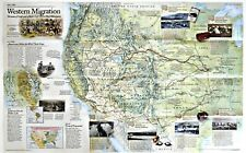 ⫸ 2000-9 US Western Migration (1841-1869) National Geographic Map Poster School