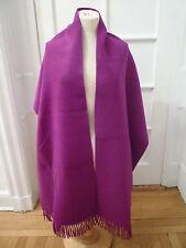 NWT: LAFAYETTE 148 Angora/Wool Pocket Shawl with Fringe, Framboise (Raspberry)