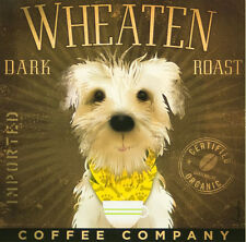 SOFT COATED WHEATEN TERRIER COFFEE Co. SCWT DOG RETRO ADVERTISING POSTER PRINT