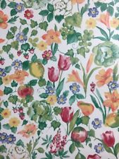 Thibaut Wallpaper 839-T-3806 Double Roll White Floral & Fruit Wallcovering NEW