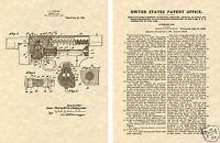 THOMPSON MACHINE GUN US PATENT Art Print READY TO FRAME!!!! Tommy vintage sub