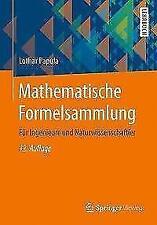 Mathematische Formelsammlung von Lothar Papula (2017, Taschenbuch)