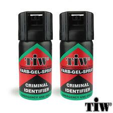 FARB GEL 2X Farbgel Red Dye Self Defence SECURITY SPRAY UK Legal - FREE UK P&P!