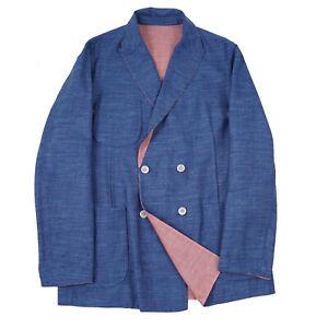 Belvest Reversible Lightweight Wool-Silk-Linen 'Double Jacket' Sport Coat 42R
