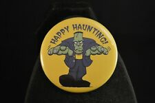 "Happy Haunting! Halloween Lot of 5 Buttons Large 2 1/4"" pin pinback Frankenstein"