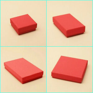 12 x Red Large Letter Size Gift Boxes Jewellery Earring Necklace Pendant Boxes