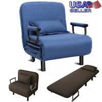 "Sofa Bed Folding Arm Chair 24.4"" Width Convertible Sleeper Recliner Lounge USA"