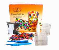New House of Crafts Mosaic Craft Kit Art Clips Paint Colour Decorative Glasses