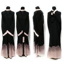 Mujer Frente Abierto Abaya.maxi Dress.jilbab Saudi Abaya Japonés Linen.size 58