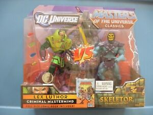DC vs MOTUC Masters of the Universe Classics LEX LUTHOR vs SKELETOR    NEW