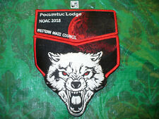 OA Pocumtuc Lodge 83, 2018 NOAC,Wolf, Blood Moon,RED,Two Part Set,277,507,556,MA