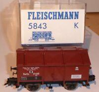 """Fleischmann 5843 K Klappdeckelwagen """" Berlin """" Km der KPEV Epoche 1 neuwertig"""
