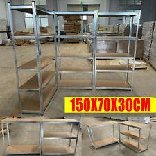 More details for garage racking 5 tier storage shelving unit boltless heavy duty metal shelf shed