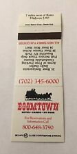 Vintage Matchbook Cover Matchcover Boomtown Hotel Casino Reno NV