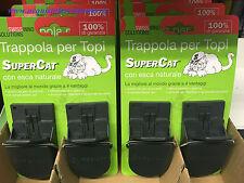 4 X TRAPPOLA PER TOPI SUPERCAT SWISSINNO CON ESCA NATURALE (pz 2)