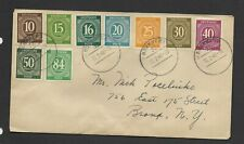 Germany 1948 cover to NY 9x numeral stamps on cover 3c cds cancels