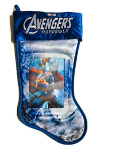 20 In marvel avengers assemble Thor 3 D Immage Blue Christmas Stocking