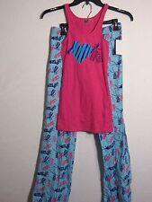 MAKE+MODEL 'Hope Love Gift Tags' Flannel Pajamas Set Blue/ Pink Sz S Reg$54.00
