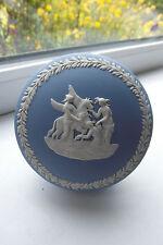 Wedgwood Pegasus Trinket Dish Blue White Jasperware British