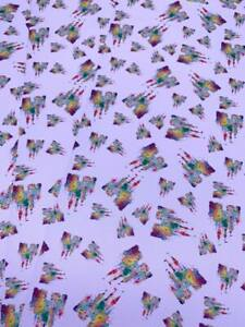 Rainbow Cinderella Castle Printed Leatherette Fabric A4 Sheets Faux Leather