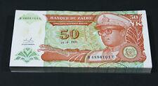 ZAIRE - 50 Nouveaux Zaires 1993 - BUNDLE LOT of 100 Notes - P 51 P51 (AU-UNC)