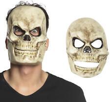 Maske Totenkopf mit beweglichem Kiefer Schädel Horror Grusel Karneval Halloween