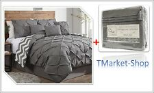 7-Piece King Size Fashion Comforter Bedding Set Bedroom Soft Duvet Bedspread NEW