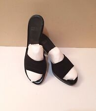 Stuart Weitzman Black Fabric High Heel  Slip-On Sandals/Slides Sz. 9.5 M