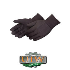 Large Brown Jersey Gloves - 3 DOZEN / 36 Pair