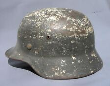 SUPERB ORIGINAL WW2 M35 GERMAN WINTER CAMO HELMET WWII NOT RELIC