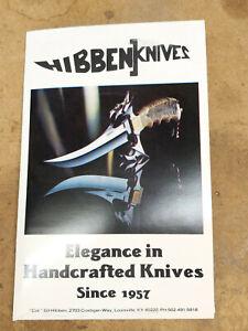 1979-1991 era hibben knives custom knife catalog sword cane Bowie Ed Parker