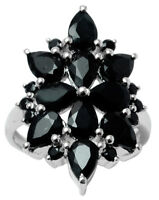 925 Sterling Silver Exclusive Black Onyx Stone Ring Indian Fashion Women Jewelry
