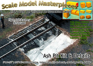 Scale Model Masterpieces/Yorke Ash Pit Kit Roundhouse/Engine Shed S/1:64